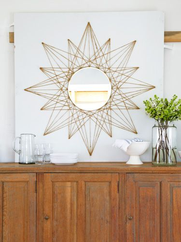 mirror with triangles